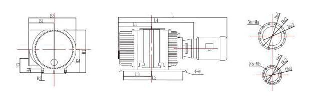 罗茨真空泵的结构图