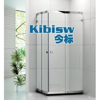 不锈钢方形淋浴房对角趟门8MM钢化玻璃浴室隔断门非标定做