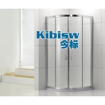 淋浴房定做|不锈钢淋浴房|工程淋浴房|弧扇方L形淋浴房