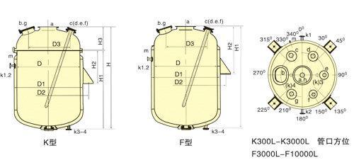 搪玻璃蒸馏罐结构图
