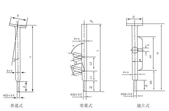 搪玻璃温套管结构图