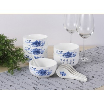 青花瓷八头餐具