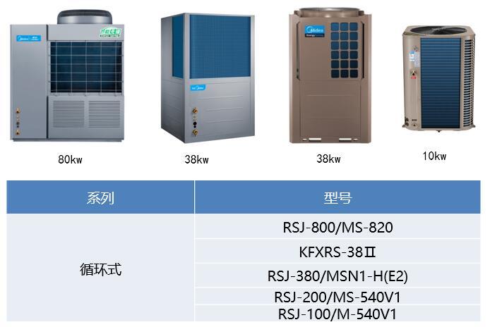 空气能热水器泳泉系列型号规格