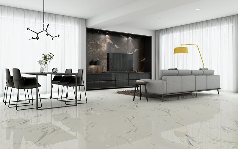 1SR802071F 卡拉拉白    客廳