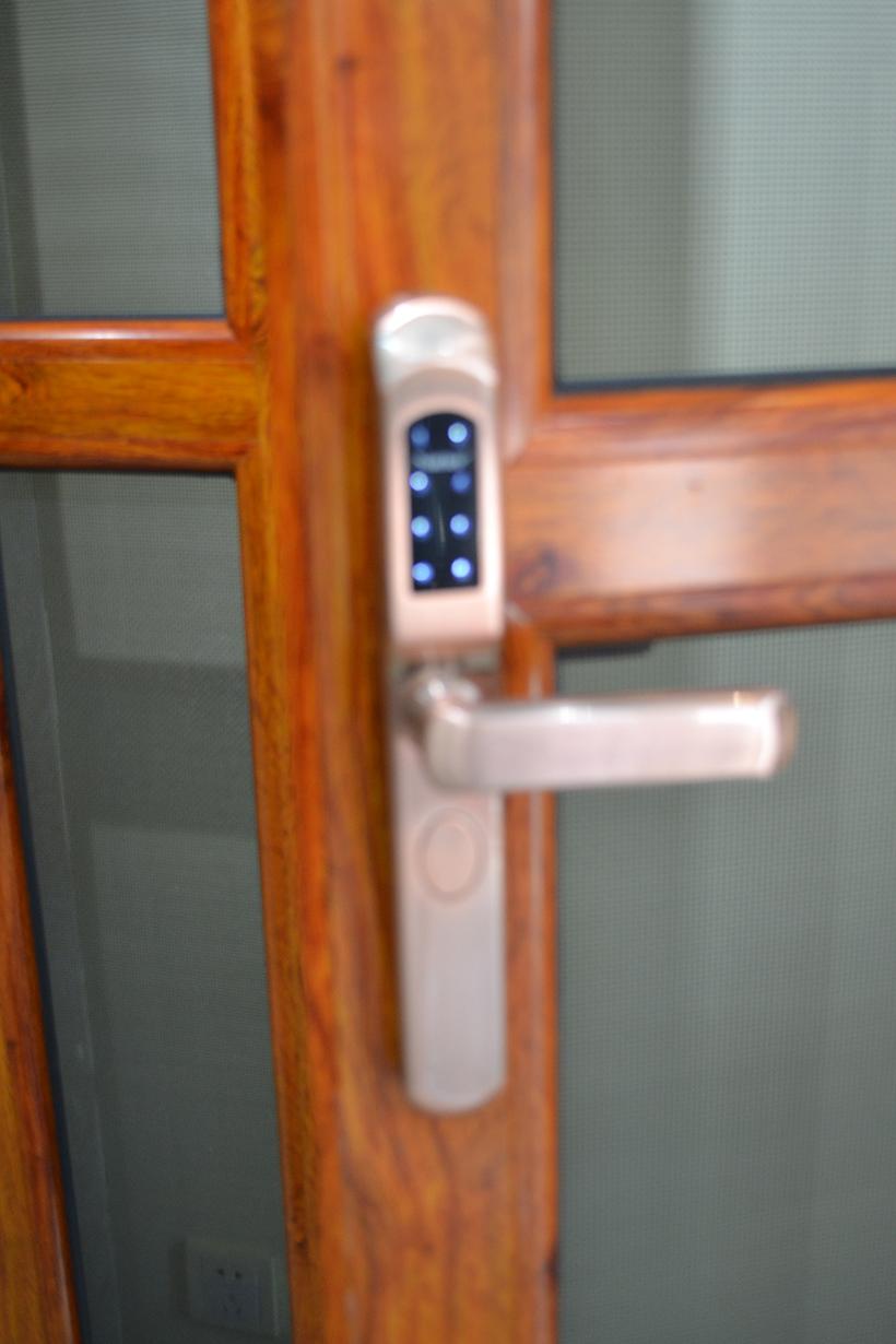 防盗纱门子母门(密码锁、单开)3
