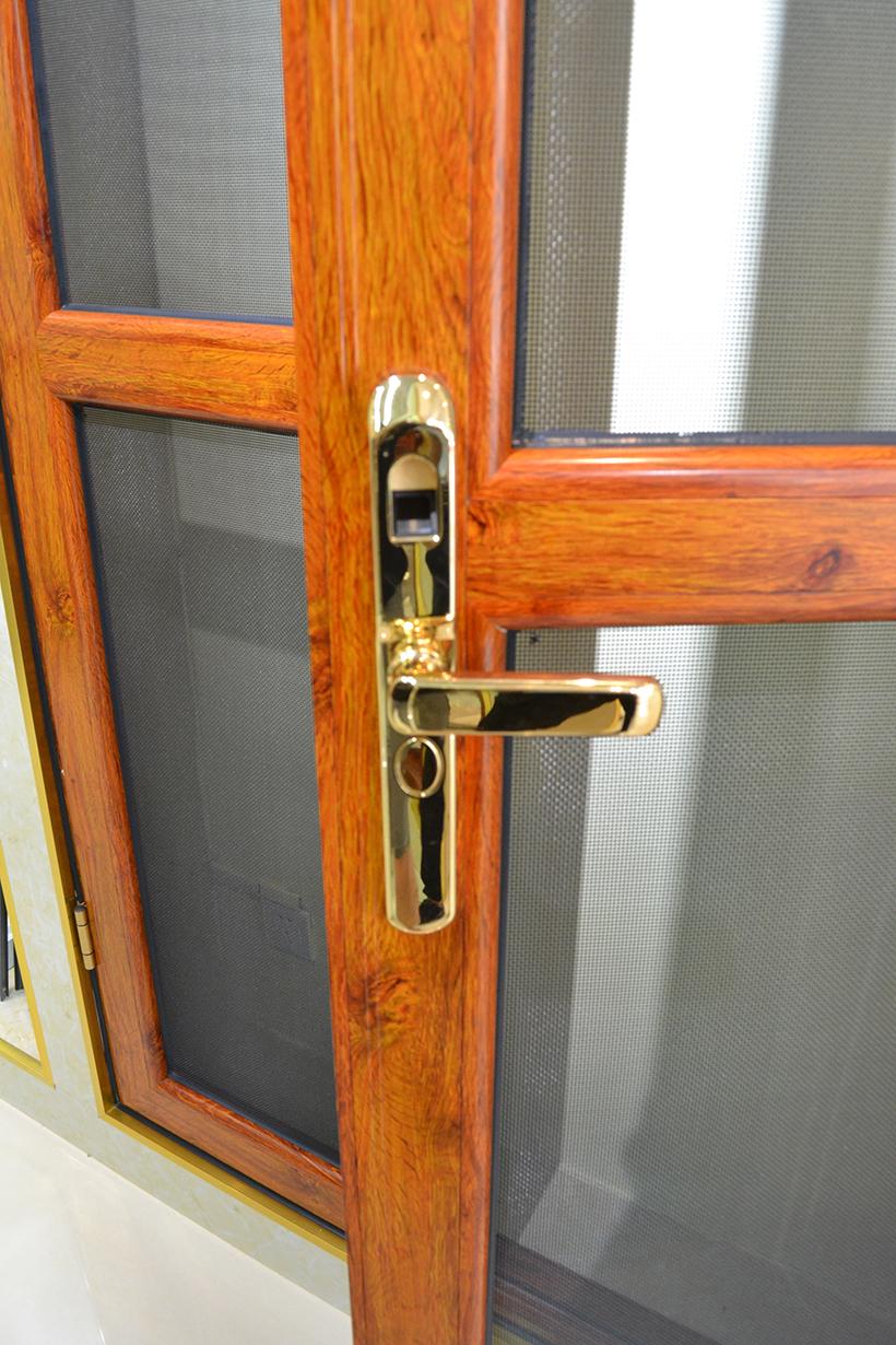 防盗纱门对开门(指纹锁、对开)