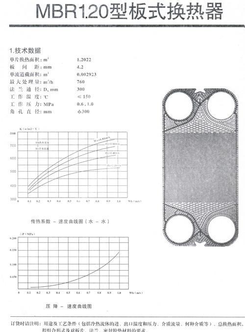 MBR1.2型板式换热器技术参数