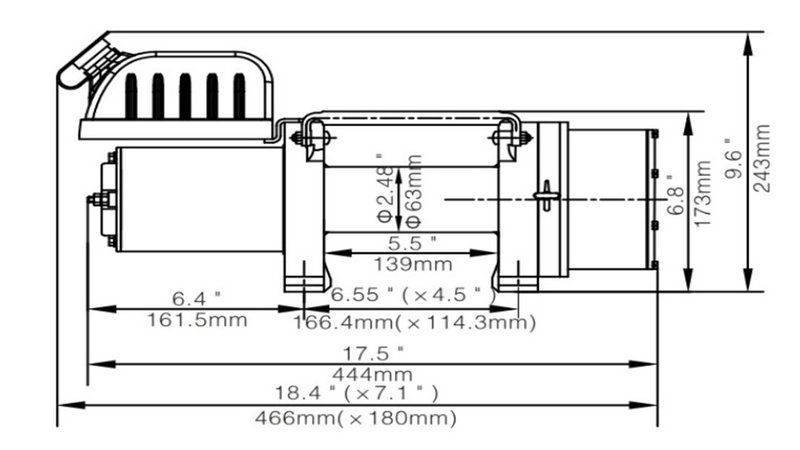 5000LBS 电动绞盘1