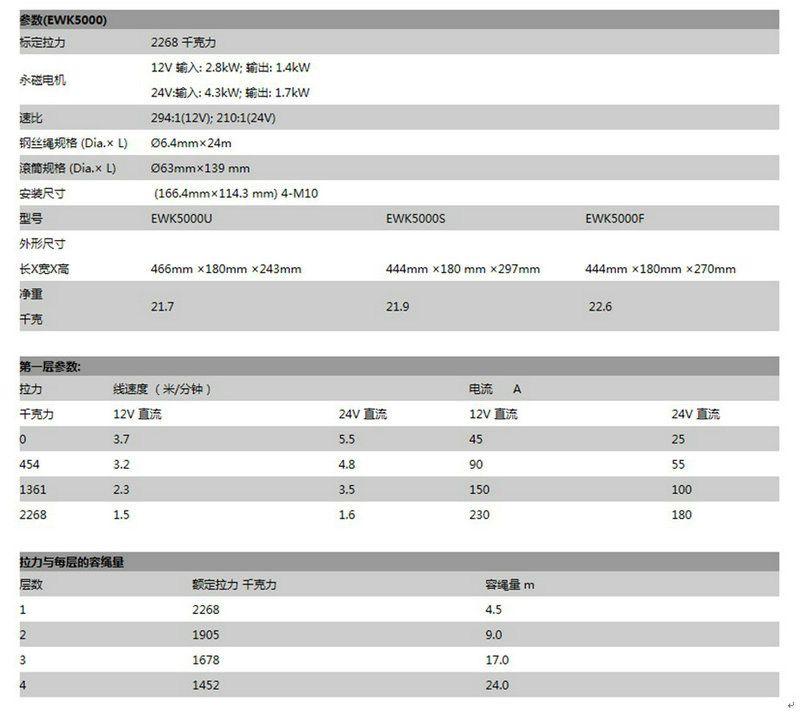 5000LBS 电动绞盘2