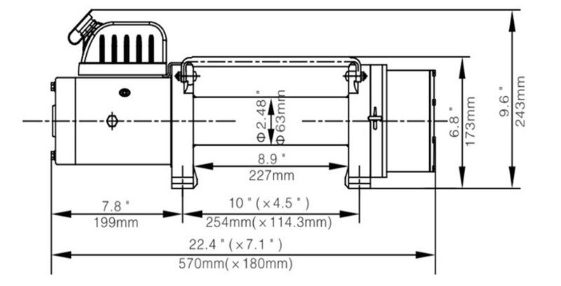 9000LBS 电动绞盘2