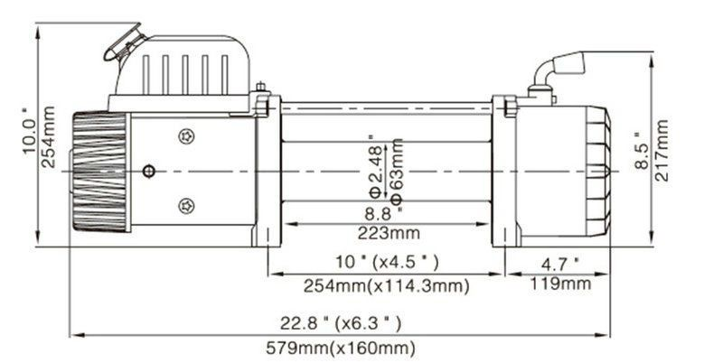 12000LBS 电动绞盘0