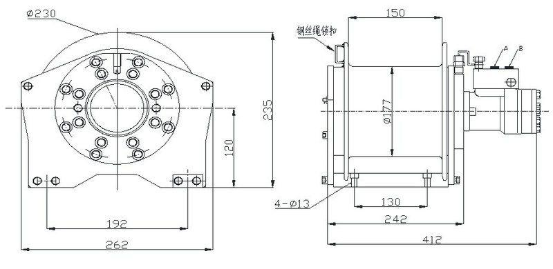 YS-0.8型 液压绞车 图纸(1)