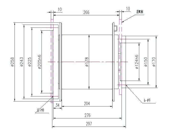 YS-1.0S型 液压绞车 图纸(1)