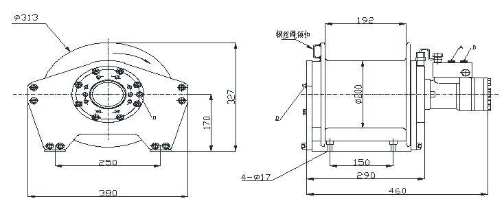 YS-1.5型 液压绞车 图纸(2)