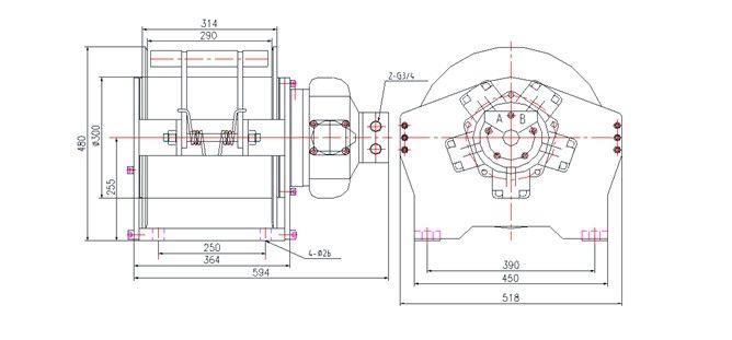 YS-4.0型 液壓絞車圖紙2