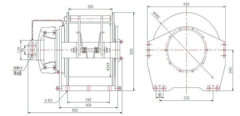 YS-5.0型 液压绞车图纸1