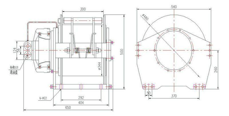 YS-7.0型 液压绞车图纸1
