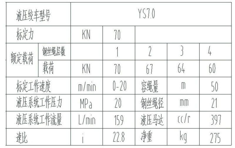 YS-7.0型 液压绞车图纸2
