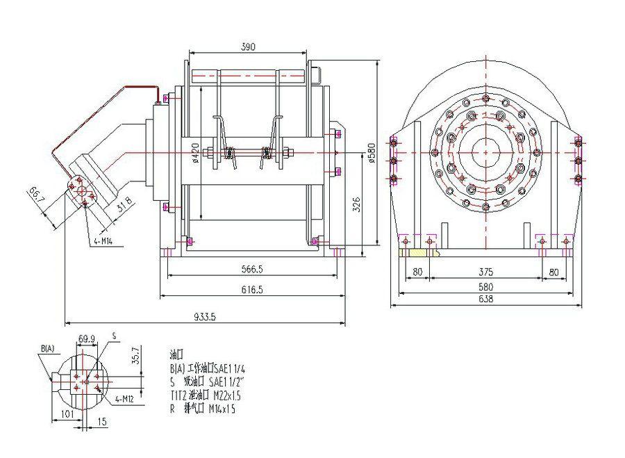 YS-14.015.0.0型 液压绞车图纸1