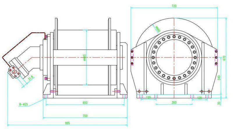 YS-20.0型液压绞车结构图