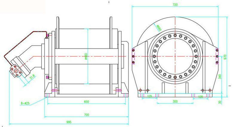 YS-25.0型液压绞车图纸