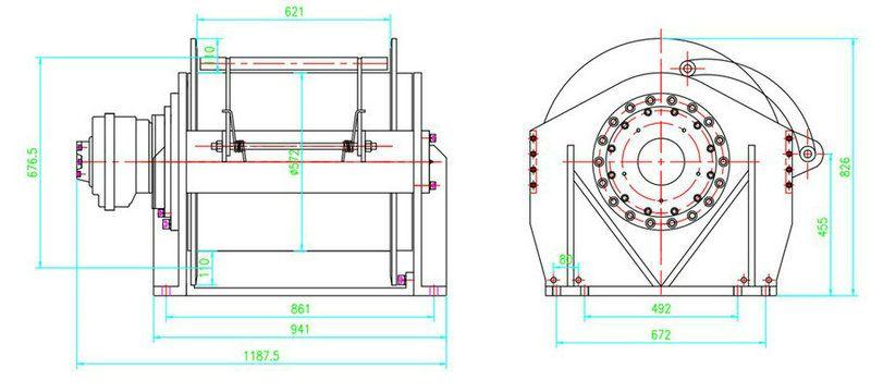 液压绞车结构图