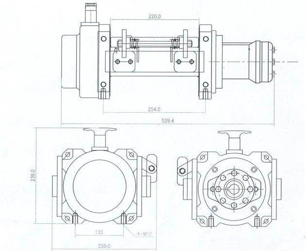 JP050型 液压绞盘图纸1
