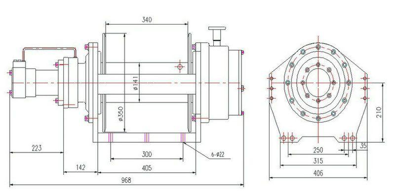 JP080型 液压绞盘图纸1