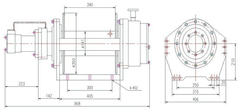 JP100型 液压绞盘图纸1