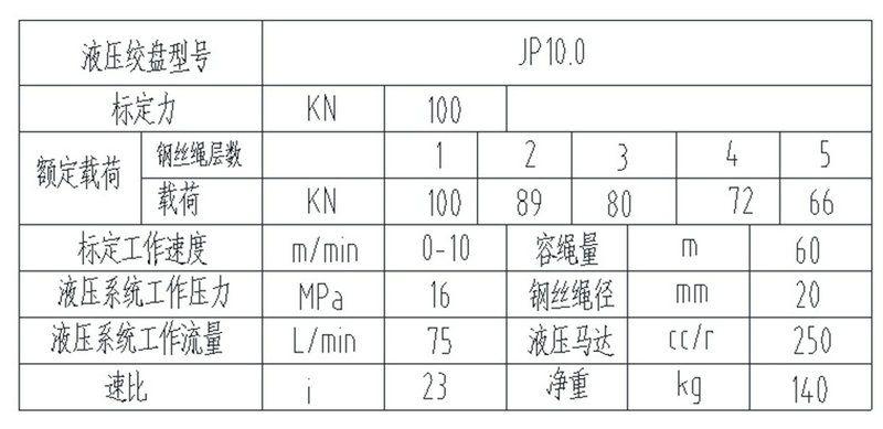 JP100型 液压绞盘图纸2