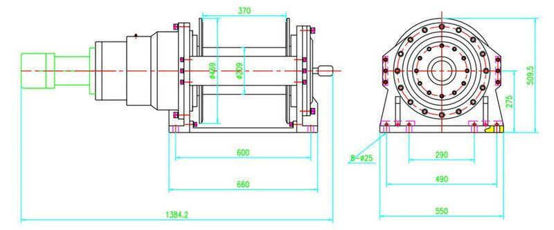 JP150型 液压绞盘图纸1