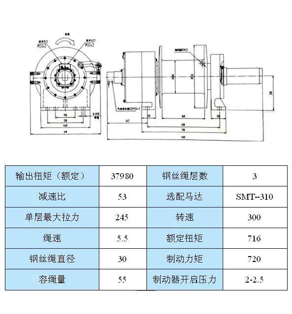 JP250型 液壓絞盤圖紙