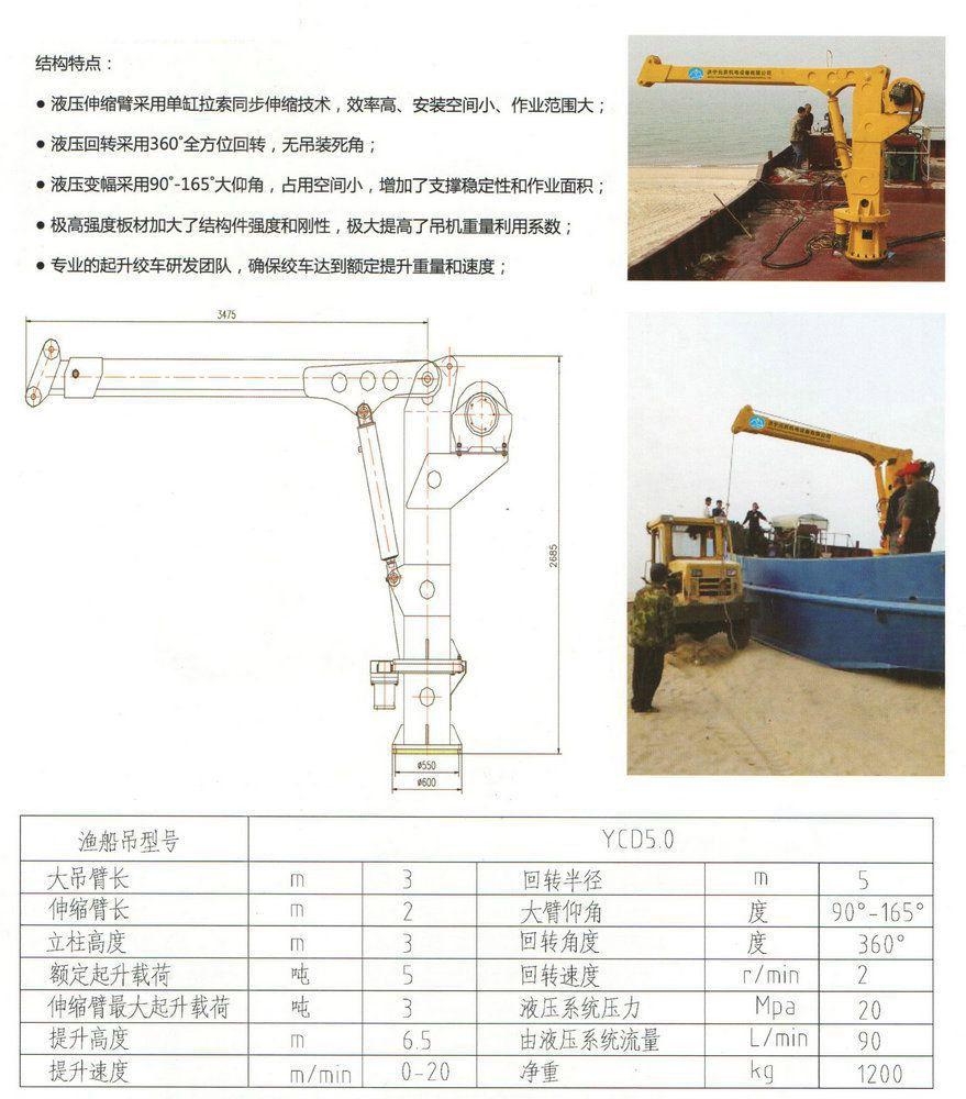 YCD5.0系列 渔船吊