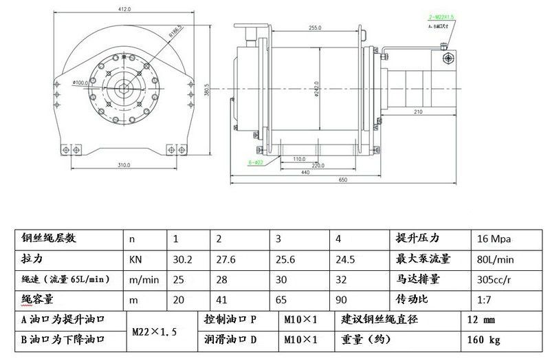 手动离合器液压绞车1