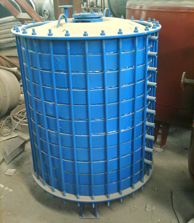 搪玻璃多孔型碟片式冷凝器