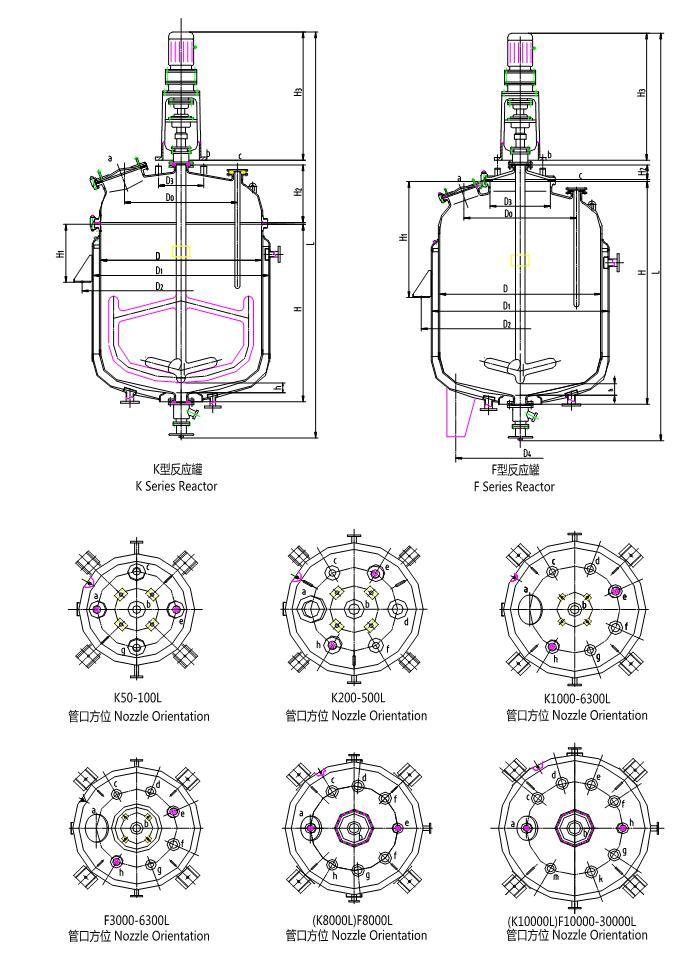 搪玻璃反應罐型號圖
