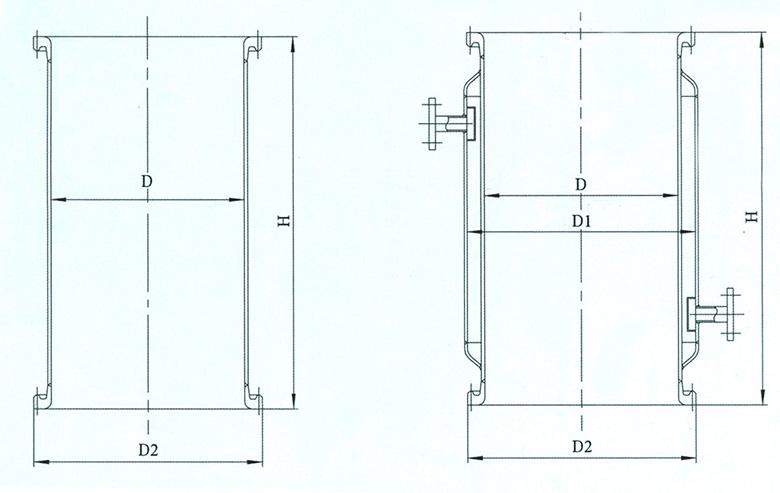 搪玻璃塔節結構圖