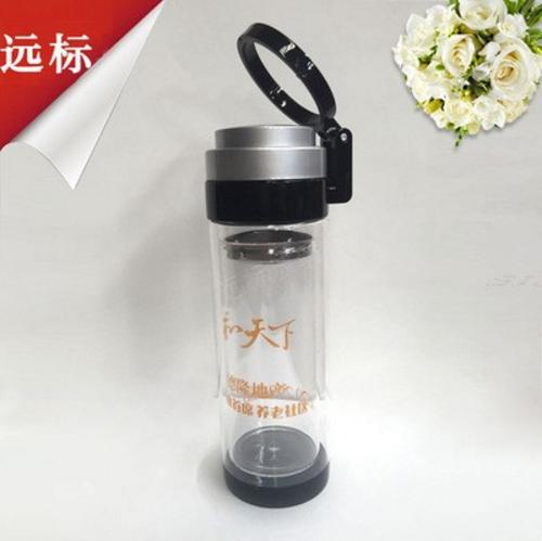 雙層創意玻璃商務水杯