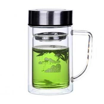 無尾透明雙層玻璃杯