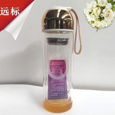 保温水晶双层玻璃杯子