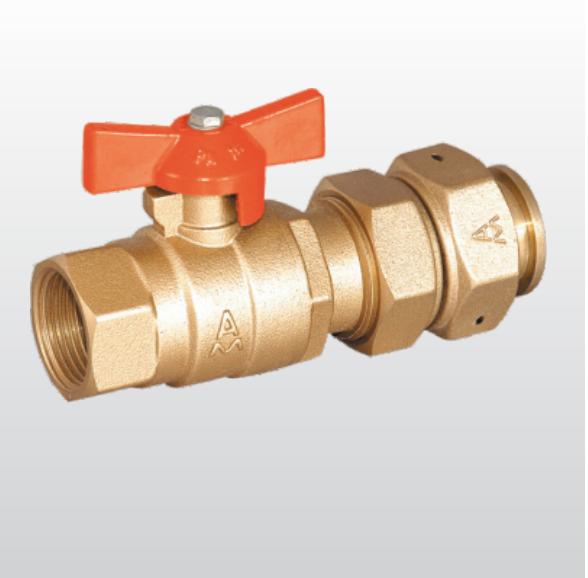210黄铜水表接管球阀
