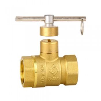黄铜一字型锁闭球阀