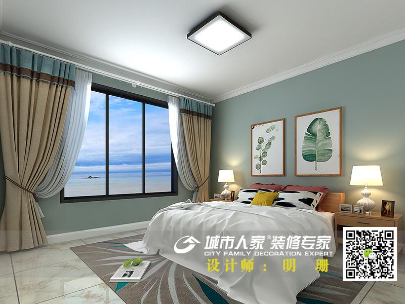中海国际社区135平米简约风格-明珊卧室