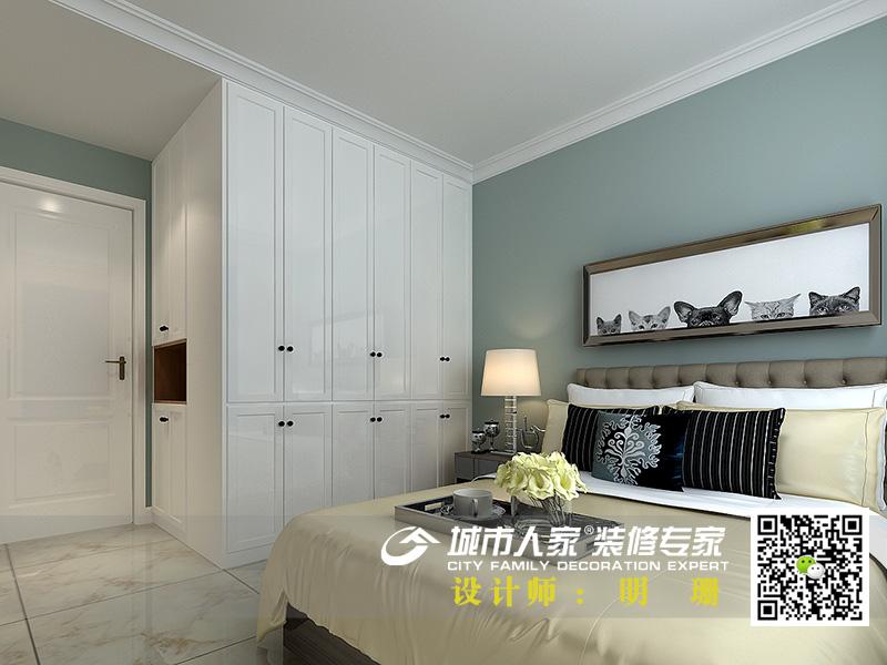 中海国际社区135平米简约风格-明珊卧室3