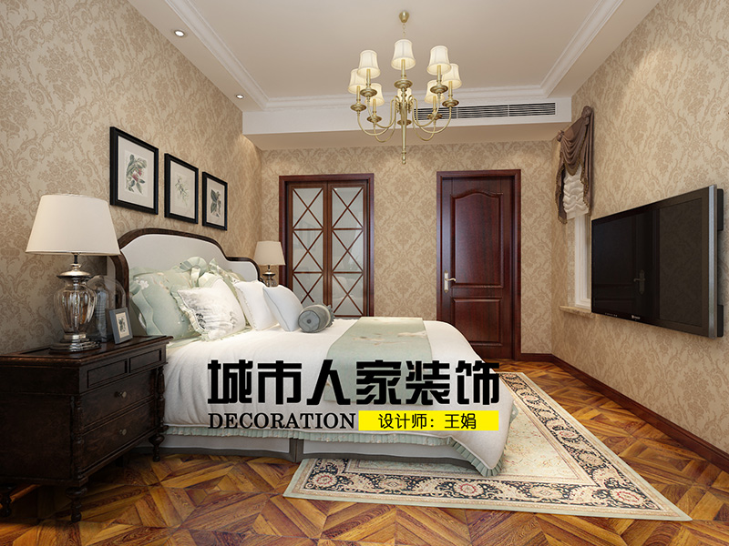 龙湖别墅300新中式装修王娟二层次卧室2
