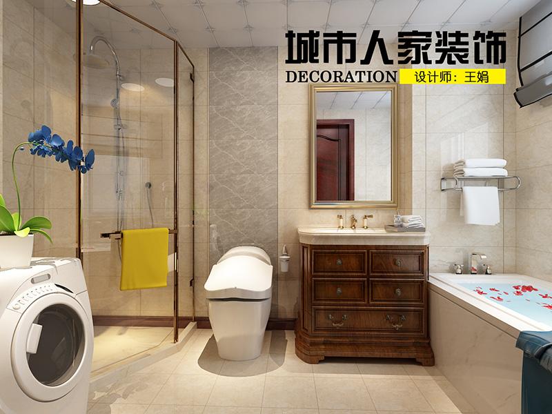龙湖别墅300新中式装修王娟二层主卫生间