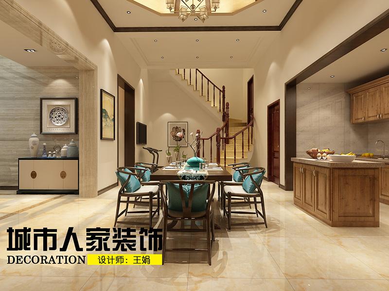 龙湖别墅300新中式装修王娟负一层2