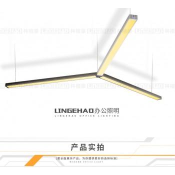 林格豪led长条灯办公照明办公室吊灯简约现代长方形吊线灯