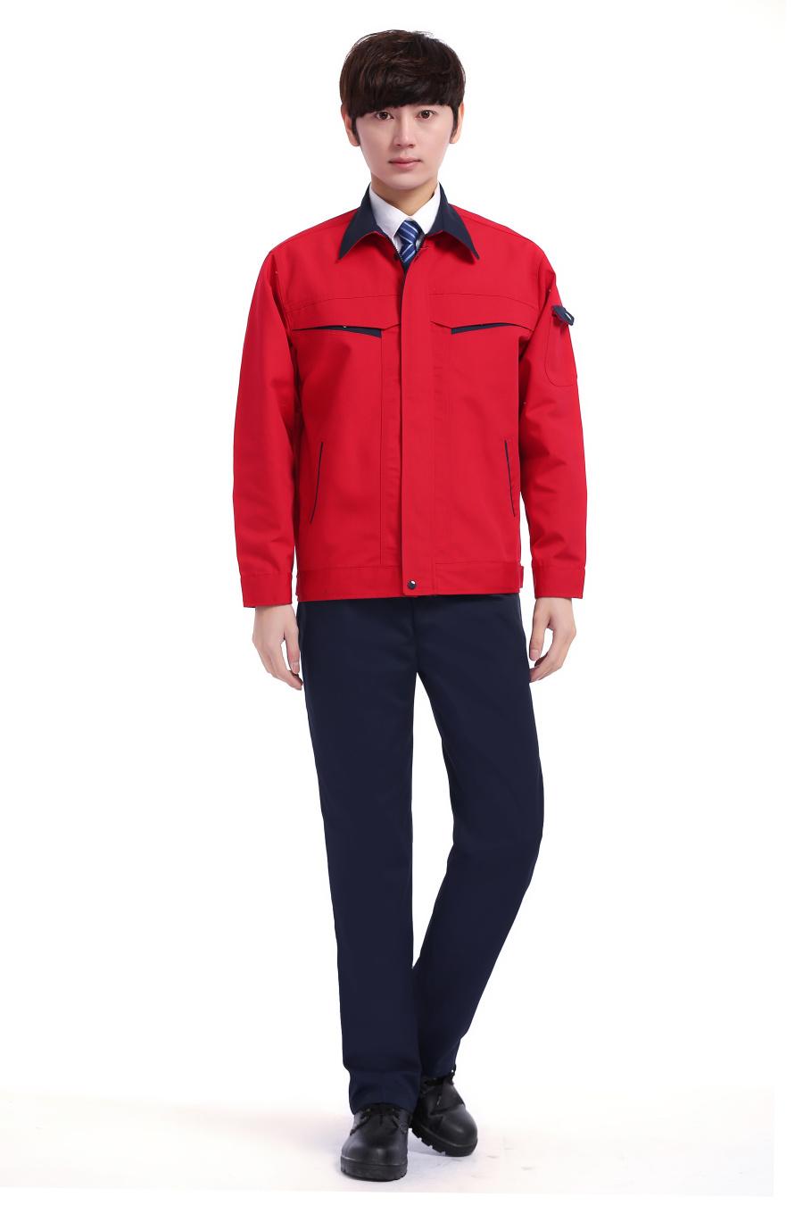 红色春装工作服