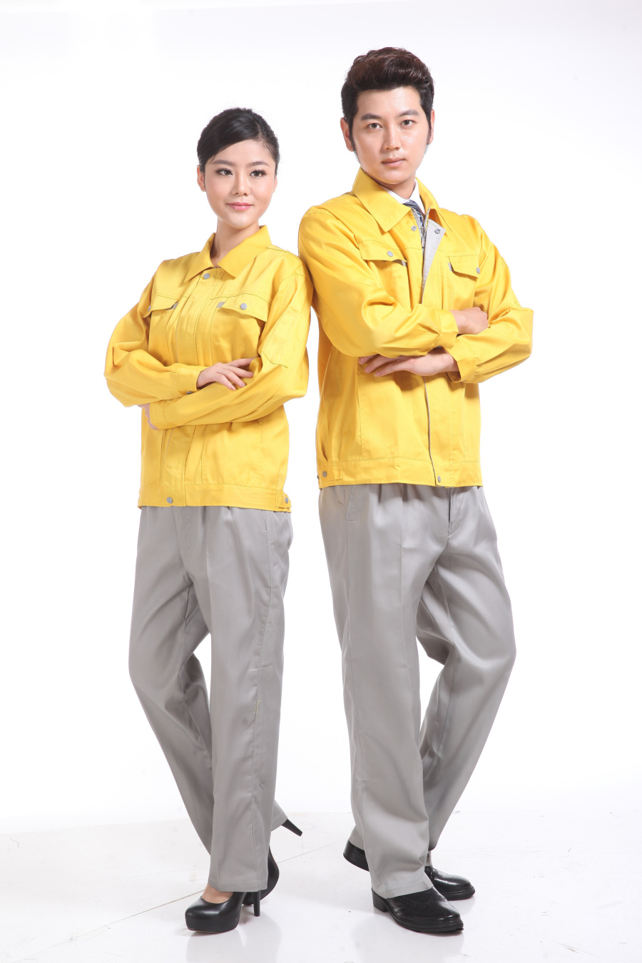 黄色春装工作服